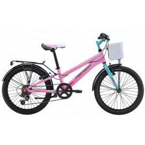 Детский велосипед Merida Chica J20 2017Детские<br>Велосипед, предназначенный для девочек в возрасте от пяти до девяти лет, с оборудованием начального класса Shimano, 6 скоростей. Технические особенности: алюминиевая рама M20 Alloy, жесткая стальная вилка, одинарные алюминиевые обода, надежные ободные тормоза V-Brake Linear, длинные стальные крылья, багажник, передняя корзина, звонок. Подходит для обучения и прогулочного катания в городских условиях. Диаметр колес - 20 дюймов. Вес - 12 кг.<br><br>Рама и амортизаторы<br><br>РамаM20 ALLOY<br>ВилкаRigid Steel<br>Цепная передача<br><br>МанеткиShimano Revoshift SL-RS35 6<br>Задний переключательShimano TY21<br>Шатуны38T 140L<br>Кареткаattached<br>Кассета14-28T 6sp<br>ЦепьZ33<br>ПедалиJunior PVC<br>Колеса<br><br>Диаметр20.0<br>ОбодаAlloy Black<br>СпицыSteel BK<br>ВтулкаSteel NT<br>ПокрышкаMerida 20 1.95<br>Компоненты<br><br>Передний тормозV-Brake Linear<br>Задний тормозV-Brake Linear<br>РульMerida Rise 540<br>ВыносMerida A-Head<br>Рулевая колонкаSteel-Headset<br>СедлоCHICA 20<br>Подседельный штырьSteel 27.2<br>РазработкаТайвань<br>ПроизводствоКНР (Тайвань)<br>