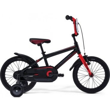 Детский велосипед Merida Dino J16 2017Детские<br>Велосипед Merida DINO J16 2017. Модель оснащена алюминиевой рамой. Установленны Жесткая вилка Rigid Steel, Ножные тормоза, а также начальное оборудование. Merida DINO J16 2017 непременно обрадует Вашего малыша, обеспечив безопасность при катании и радость от весёлых поездок.<br><br>Рама и амортизаторы<br><br>РамаM16 ALLOY-C<br>ВилкаRigid Steel<br>Цепная передача<br><br>ШатуныSteel 32T<br>Кареткаattached<br>Кассета16T<br>ЦепьC-410<br>ПедалиKid PP<br>Колеса<br><br>Диаметр16.0<br>ОбодаAlloy Black<br>СпицыSteel BK<br>ВтулкаSteel NT<br>ПокрышкаMerida Kid 16 1.75<br>Компоненты<br><br>Передний тормозV-Brake Linear<br>Задний тормозНожной (Coaster in R.Hub.)<br>РульOne piece<br>ВыносOne piece<br>Рулевая колонкаGeneral<br>СедлоDino kid 16<br>Подседельный штырьattached<br>РазработкаТайвань<br>ПроизводствоКНР (Тайвань)<br>