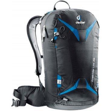 Рюкзак Deuter Freerider Lite 25, отделение для влажной одежды, 56х28х20, 25 л, черный, 3303017_7303Велорюкзаки<br>Новинка от Deuter. Облегченная модель зимних рюкзаков для бэккантри и фрирайда серии Freerider.<br><br>-сноуборд и снегоступы могут быть прикреплены в вертикальном положении<br>-стропы крепления позволяют переносить снегоступы в центре, сбоку и по диагонали<br>-две петли ледоруба, которые могут убираться<br>-большое отделение для лавинной лопаты и лейбл SOS.<br>-отделение для зонда<br>-боковые компрессионные ремни<br>-стабилизирующие ремни<br>-совместим с питьевой системой<br>-съемная фиксация шлема<br>-внешнее отделение на молнии для маски или очков с флисовой обивкой изнутри<br>-отделение для влажной одежды<br>-петли для снаряжения и карман на молнии на поясе, система Vari Flex , съемный пояс<br>-3M отражатель<br>-съемная сидушка<br>-Материал: 100D Pocket Rip Mini<br><br>Система спины:<br><br>- Плотно прилегающая спинка с дышащей подкладкой 3D AirMesh<br>- Съемный поясной ремень (Speed lite 10, Speed lite 15, Speed lite 20)<br>- Упругий каркас из пластика Delrin® U-образной формы обеспечивает непревзойденную гибкость при очень малом весе. Для уменьшения веса и сворачивания рюкзака его можно снять. (Speed lite 10, Speed lite 15, Speed lite 20, Pace 28 SL, Pace 30)<br>- Нагрудный ремень.<br><br>Материалы:<br><br>100D Pocket Rip Mini<br>более легкий вариант ткани Nylon Pocket Rip. Тонкая пряжа чрезвычайно легкая. Тем не менее, плотное переплетение делает ее чрезвычайно стойкой к истиранию и прочной на разрыв.<br><br>-Вес: 940 грамм.<br>-Объём 25 литров.<br>-Размеры: 56x28x20 см.<br>