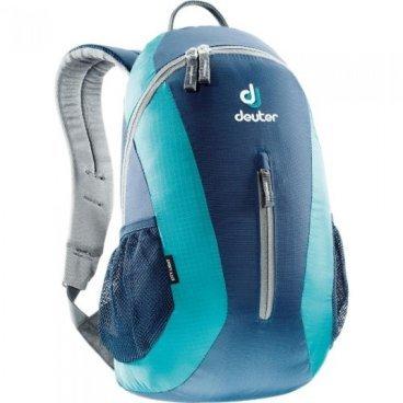 Рюкзак Deuter City Light, отделение для мокрой одежды, 45х24х17, 16 л, синий/голубой, 80154_3351Велорюкзаки<br>Компактный и вместительный городской рюкзак<br><br>-система подвески Airstripes<br>-анатомические мягкие плечевые лямки<br>-удобный доступ в основное отделение с помощью двусторонней u-образной молнии<br>-Отделение для мокрой одежды<br>-внутренний карман для документов<br>-передний карман на молнии<br>-боковые сетчатые карманы<br>-отражатель 3M<br>-Материал: Super-Polytex/Ripstop 210<br>-Вес: 400 грамм<br>-Объём: 16 литров<br>-Размеры: 45x24x17 см<br>