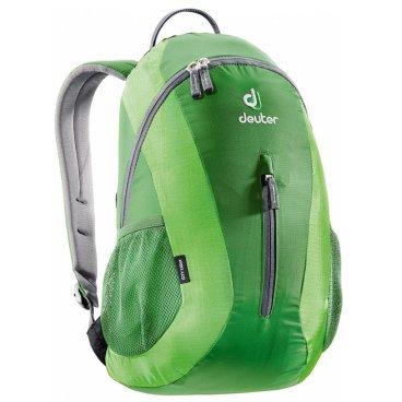 Рюкзак Deuter City Light, с отделением для мокрой одежды, 45х24х17, 16 л, зеленый, 80154_2215Велорюкзаки<br>Компактный и вместительный городской рюкзак<br><br>-система подвески Airstripes<br>-анатомические мягкие плечевые лямки<br>-удобный доступ в основное отделение с помощью двусторонней u-образной молнии<br>-Отделение для мокрой одежды<br>-внутренний карман для документов<br>-передний карман на молнии<br>-боковые сетчатые карманы<br>-отражатель 3M<br>-Материал: Super-Polytex/Ripstop 210<br>-Вес: 400 грамм<br>-Объём: 16 литров<br>-Размеры: 45x24x17 см<br>