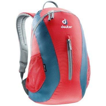 Рюкзак Deuter City Light, с отделением для мокрой одежды, 45х24х17, 16 л, красный, 80154_5306Велорюкзаки<br>Компактный и вместительный городской рюкзак<br><br>-система подвески Airstripes<br>-анатомические мягкие плечевые лямки<br>-удобный доступ в основное отделение с помощью двусторонней u-образной молнии<br>-Отделение для мокрой одежды<br>-внутренний карман для документов<br>-передний карман на молнии<br>-боковые сетчатые карманы<br>-отражатель 3M<br>-Материал: Super-Polytex/Ripstop 210<br>-Вес: 400 грамм<br>-Объём: 16 литров<br>-Размеры: 45x24x17 см<br>