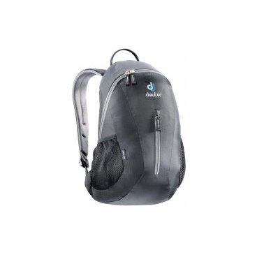 Рюкзак Deuter City Light, с отделением для мокрой одежды, 45х24х17, 16 л, черный, 80154_7000Велорюкзаки<br>Компактный и вместительный городской рюкзак<br><br>-система подвески Airstripes<br>-анатомические мягкие плечевые лямки<br>-удобный доступ в основное отделение с помощью двусторонней u-образной молнии<br>-Отделение для мокрой одежды<br>-внутренний карман для документов<br>-передний карман на молнии<br>-боковые сетчатые карманы<br>-отражатель 3M<br>-Материал: Super-Polytex/Ripstop 210<br>-Вес: 400 грамм<br>-Объём: 16 литров<br>-Размеры: 45x24x17 см<br>