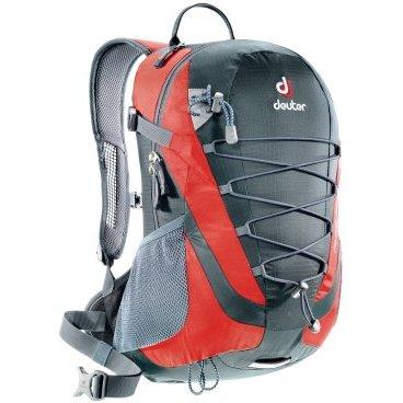 Рюкзак Deuter Airlite 16, чехол от дождя, 46х25х17, 16 л, серый, 4420115_4560Велосумки<br>Компактный и вместительный велорюкзак, в который можно положить все необходимое для однодневного похода или прогулки с пикником. Модель выполнена из износостойкого материала. Рюкзак плотно фиксируется к телу широкими плечевым лямками, грудным и поясным ремнем. Отличную вентиляцию спины обеспечивает система Aircomfort и перфорация на плечевых лямках. DEUTER AIRLITE 16 обладает вместительным основным отделением, боковыми карманами, съемным чехлом от дождя, эластичной шнуровкой для фиксации куртки или других крупных вещей. Совместим питьевыми системами.<br><br>Технические характеристики<br><br>Производитель DEUTER<br>Материал: Deuter-Microrip-Nylon/Deuter-Ripstop 210<br>Компрессионные ремни<br>Съемный чехол от дождя<br>Вес: 870 граммов<br>Объем 16 литров<br>Размер: 46 / 25 / 17 см<br>