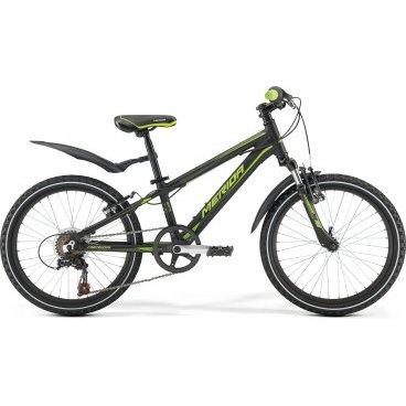 Детский велосипед Merida Matts J20 Boy 2017Детские<br>Merida Matts J20 – это детский велосипед, который станет отличным подарком для ребёнка. Привлекательный внешний вид станет большим поводом для радости малыша, а качественная сборка и надёжные детали станут решающим моментом при выборе, для родителей.<br>Рама и амортизаторы<br><br>РамаM20 ALLOY<br>ВилкаMerida HL 410E 30<br>Цепная передача<br><br>МанеткиShimano Revoshift SL-RS35 6<br>Задний переключательShimano Tourney TZ50<br>Шатуны40T 152L<br>КассетаShimano TZ-20 14-28T 6sp<br>ЦепьKMC Z50<br>ПедалиJunior fit<br>Колеса<br><br>Диаметр20.0<br>СпицыSteel UCP<br>ВтулкаAlloy QR<br>ПокрышкаMerida 20 1.95<br>Компоненты<br><br>Передний тормозV-Brake Linear<br>Задний тормозV-Brake Linear<br>РульMerida Rise 540<br>ВыносMerida A-Head OS 60<br>Рулевая колонкаSteel-Headset<br>СедлоMatts kid 20<br>Подседельный штырьAlloy 27.2<br>РазработкаТайвань<br>ПроизводствоКНР (Тайвань)<br>