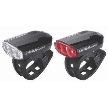 Комплект фонарей BBB SparkCombo, белый+красный, светодиодные, 4 режима, подзарядка через USB, BLS-48Фары и фонари для велосипеда<br>абор BBB BLS-48 SparkCombo состоит из передней и задней мигалок BBB Spark (BLS-46 и BLS-47). Набор BBB BLS-48 SparkCombo имеет одну очень приятную особенность: мигалки укомплектованы литий-полимерными аккумуляторами емкостью 280 мАч, рассчитанными на 400 циклов заряд/разряд, которые заражаются от USB порта. На корпус мигалок выведены индикаторы разряда батареи, благодаря чему Вы не рискуете остаться на темной дороге без огней безопасности.<br><br><br><br>Набор BBB BLS-48 SparkCombo состоит из мигалок, построенных на основе 3 ярких экономных светодиодов и оснащены качественной системой влагозащиты. Наборы доступны в черном и белом цветах корпуса.<br><br>Набор BBB BLS-48 SparkCombo<br><br><br><br>3 ярких светодиода<br><br>4 режима работы (свечение с низкой яркость, свечение с высокой яркость, 2 режима мигания с разной частотой)<br><br>Крепление без инструмента<br><br>Водонепроницаемый корпус<br><br>Встроенная литий-полимерная батарея (280 мАч, 3,7В), рассчитанная на 400 циклов<br><br>Зарядка от USB<br>