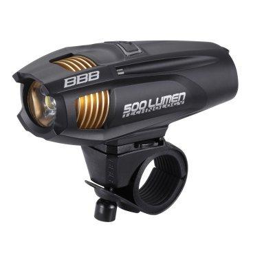 Фонарь передний BBB Strike, светодиодный, сменный аккумулятор, 5 режимов, BLS-72Фары и фонари для велосипеда<br>Мощность светодиода 500 Люмен.<br>Легкий и компактный фонарь с USB зарядкой.<br>Сменный аккумулятор EnergyBar (BLS-93).<br>Система охлаждения с радиатором Airflow Cooling System (ACS).<br>5 режимов: Супер яркий, яркий, стандартный, экономичный и мигающий.<br>Водонепроницаемы корпус.<br>Прорезиненная кнопка включения.<br>Кнопка с индикатор: аккумулятор разряжен(красный), фонарь включен(синий) и заряжается (мигает синим).<br>Крепеж с регулируемым углом наклона.<br>Более 400 циклов зарядки без потери емкости аккумулятора (2300mAh 3.7V).<br>Время зарядки 4 часа.<br>Вес: 127 гр.<br>Размер: 112 х 35 х 40 мм.<br>