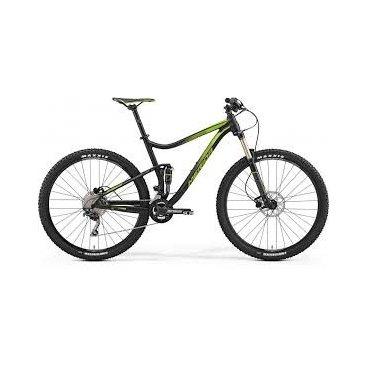 Двухподвесный велосипед Merida One-Twenty 9.500 2017Двухподвесные<br>велосипед Merida One-Twenty 9.500 2017. Установленны вилка SR Aion RL-R 29 130 15QR remote, а также профессиональное оборудование. Merida One-Twenty 9.500 2017 прекрасно подойдёт для катания как в городе, так и по пересечённой местности.<br>Рама и амортизаторы<br><br>РамаOne-Twenty lite-D-single [29er] R12<br>ВилкаSR Aion RL-R 29 130 15QR remote<br>Задний амортизаторSR Suntour Epicon Lorp<br>Цепная передача<br><br>МанеткиShimano Deore<br>Передний переключательShimano Deore double side swing<br>Задний переключательShimano Deore SGS Shadow+<br>КареткаCartridge Bearing<br>КассетаShimano CS-HG50-10 11-36<br>ЦепьKMC X10<br>Педали XC pro alloy<br>Колеса<br><br>ОбодаMerida Big Nine comp CC<br>СпицыBlack stainless<br>ВтулкаFoBearing disc 15<br>ПокрышкаMaxxis Forekaster 2.35 fold<br>Компоненты<br><br>Передний тормозTektro MA hydraulic 180<br>Задний тормозTektro MA hydraulic 180<br>ГрипсыMERIDA Screw on-Single<br>РульMERIDA Expert OS 740 R12<br>Рулевая колонкаBig Conoid semi<br>СедлоMerida Sport<br>Подседельный штырьMERIDA comp SB12 31.6<br>РазработкаТайвань<br>ПроизводствоКНР (Тайвань)<br>