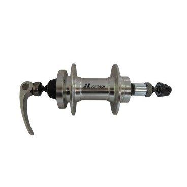 Втулка задняя JOY TECH D242DSE, 32H, ось М10х145х137мм, под трещетку, алюминий, D242DSEВтулки для велосипеда<br>Втулка JOY TECH задняя под трещотку, MTB, 8 скоростей, 32 отверстия, ось М10х145х137 мм, под диск, алюминий, с эксцентриком 148,5 мм, серебристая<br>