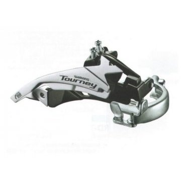 Переключатель передний SHIMANO TOURNEY FD-TY510-TS6, 18/21 ск, двойная тяга, 48Т, AFDTY510TSS6Переключатели скоростей на велосипед<br>Shimano переключатель передний fd-ty510-ts6, tourney, двойная тяга, для 18-21-скоростного привода, band type (с адаптером 28.6мм), угол: 66-69, для 48T, линия цепи: 47.5/50мм<br><br>Тип переключателя: Передний<br><br>Тип крепления: Хомут 28.6 мм<br>Вес: 190 гр.<br>
