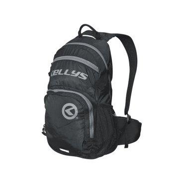 Велосипедный рюкзак KELLYS INVADER, 25 л, чёрный/серая молния, полиэстерВелорюкзаки<br>Вместительный рюкзак KELLYS INVADER идеально подойдет для райдеров, катающих не только вокруг дома. <br><br>Вместит все, что нужно для длительных вылазок на природу или велопробегов на длительные дистанции. Объем внушает доверие - 25 литров! <br><br>О функционале. Рюкзак имеет 2 внутренних отделения для вещей, отдельный карман спереди с автономным входом для вещей первой необходимости, отдельный отсек для гидропака, объемом до 3 литров. Дополнительно - карман для MP3 плеера, сетчатые карманы по бокам для фляги с водой. <br><br>Кроме того, рюкзак снабжен интегрированным чехлом - дождевиком, защищающим содержимое от дождя и снега, грязи из-под колес, дорожной пыли. <br><br>На фронтальной части имеются 2 петли, предназначенные для закрепления сумки для шлема. Плечевые лямки с мягкими вставками, ручка для переноски в руках, 2 дополнительных ремня - грудной и поясной, для лучшей фиксации рюкзака. <br><br>Отдельное слово о спинке. Она дополнительно усилена алюминиевыми элементами. Они предназначены для того, чтобы рюкзак не прилегал плотно к спине. Это создает вентиляцию, спина под рюкзаком не потеет. <br><br>В производстве рюкзака используется только лучшая фурнитура. Молнии скрыты от засорения и намокания.<br>