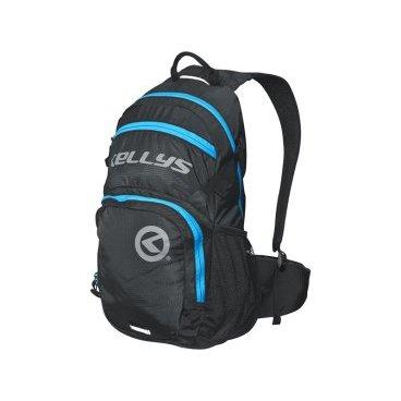 Велосипедный рюкзак KELLYS INVADER, 25 л, чёрный/синяя молния, полиэстерВелорюкзаки<br>Вместительный рюкзак KELLYS INVADER идеально подойдет для райдеров, катающих не только вокруг дома. <br><br>Вместит все, что нужно для длительных вылазок на природу или велопробегов на длительные дистанции. Объем внушает доверие - 25 литров! <br><br>О функционале. Рюкзак имеет 2 внутренних отделения для вещей, отдельный карман спереди с автономным входом для вещей первой необходимости, отдельный отсек для гидропака, объемом до 3 литров. Дополнительно - карман для MP3 плеера, сетчатые карманы по бокам для фляги с водой. <br><br>Кроме того, рюкзак снабжен интегрированным чехлом - дождевиком, защищающим содержимое от дождя и снега, грязи из-под колес, дорожной пыли. <br><br>На фронтальной части имеются 2 петли, предназначенные для закрепления сумки для шлема. Плечевые лямки с мягкими вставками, ручка для переноски в руках, 2 дополнительных ремня - грудной и поясной, для лучшей фиксации рюкзака. <br><br>Отдельное слово о спинке. Она дополнительно усилена алюминиевыми элементами. Они предназначены для того, чтобы рюкзак не прилегал плотно к спине. Это создает вентиляцию, спина под рюкзаком не потеет. <br><br>В производстве рюкзака используется только лучшая фурнитура. Молнии скрыты от засорения и намокания.<br>