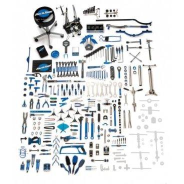 Набор инструментов Park Tool, 243 инструмента, 4 ящика, PTLBMK-243Велоинструменты<br>Это он! 4 ящика инструментов! Почти все инструменты включены в эту коллекцию. Этот набор предназначен для профессионального, полного спектра услуг веломастерской, PTLBMK-243 представляет собой полный набор инструментов профессионального уровня, приспособления, смазки, приборы, аксессуары. Идеальный способ начать бизнес, открыть или расширить магазин велосипедов, или создать домашнюю мастерскую высшего класса!<br><br>В PTLBMK-243 включает в себя все, что есть в PTLBMK-257, кроме инструментов для рамы и режущих инструментов.<br>