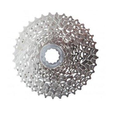 Кассета SHIMANO HG400, 9 звезд, 9 скоростей, 11-28Т, сталь, ICSHG4009128Кассеты<br>Производитель: SHIMANO. Кассета любительского уровня, без проблем может быть установлена на велосипеды любого типа, которые имеют 9 скоростною трансмиссию. Данная кассета имеет специальную форму зубьев, которая облегчает переброс цепи между звездами, а также снижает шум. Технология Hyperglide существенно повышает плавность работы трансмиссии. Кассета SHIMANO CS-HG300 может работать с 9 ск. цепями всех производителей.<br>Имеет специально перфорированные звезды, что помогает снизить вес, но при этом не теряя в прочности.<br><br>Характеристики:<br><br>    К-во скоростей: 9 шт.<br>    Расчет по зубьям: от 11 до 28.<br>    Материал производства: сталь с специальным покрытием.<br>