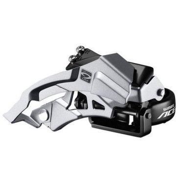 Переключатель передний SHIMANO Acera M3000, универсальная тяга, хомут 34.9 мм, AFDM3000TSL6Переключатели скоростей на велосипед<br>Передний переключатель Acera с очень хорошим соотношением цены и качества прослужит вам долго, предлагая четкое переключение, непревзойденную производительность на трассе, а также вне ее для 9-скоростной трансмиссии.<br>Характеристики:<br><br>    Дизайн Top swing делает переключение более быстрым<br>    Универсальная тяга тросика (можно быть протянут как сверху, так и снизу)<br>    Поддерживаемый диаметр трубы рамы: 34,9мм<br>    Угол наклона перьев: 66-69<br>    Максимальная емкость: 40 зубьев<br>    Совместим с трансмиссиями на 9 скоростей<br>