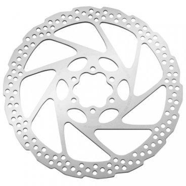 Тормозной диск SHIMANO RT56, 180 мм, 6-болт, только для полимерных колодок, ASMRT56MТормоза на велосипед<br>Тормозной диск Shimano RT56 , крепление 6 болтов, только для пластиковых колодок.<br><br>Тормозной диск имеет отверстия по всему диаметру для охлаждения.<br><br>Диаметр: 180 мм.<br>