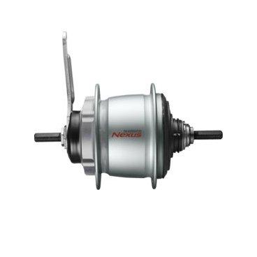 Втулка планетарная SHIMANO Nexus C6001, 32 отверстия, 8 скоростей, 132x184 мм, KSGC60018CBSВтулки для велосипеда<br>Втулка планетарная Shimano Nexus C6001-8С под 32 спицы, 8 скоростей, под ножной тормоз, 132х184 мм, цвет серебристый. Более высокая эффективность переключения даже при сильном натяжении цепи, обусловленном двигателями  электровелосипедов E-bike,  подходит как для применения на электровелосипедах, так и на обычных. Вес 2040гр.<br>Комплектация: без упаковки, не комплектуется шифтером, переключателем и мелкими запчастями.<br>