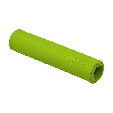 Грипсы KELLYS KLS SILICA, 130 мм, силикон, зеленыйРучки и Рога<br>Мягкие велосипедные грипсы<br><br>Особенности<br><br>    эфективно поглощают вибрацию;<br>    легко встановлюются.<br><br>Характеристика:<br><br>    материал- силикон<br>    в комплекте пробки-заглушки;<br>    длина - 130 мм.<br>    Цвет: зеленый<br>