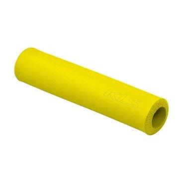 Грипсы KELLYS KLS SILICA, 130 мм, силикон, желтыйРучки и Рога<br>Мягкие велосипедные грипсы<br><br>Особенности<br><br>    эфективно поглощают вибрацию;<br>    легко встановлюются.<br><br>Характеристика:<br><br>    материал- силикон<br>    в комплекте пробки-заглушки;<br>    длина - 130 мм.<br>    Цвет: желтый<br>
