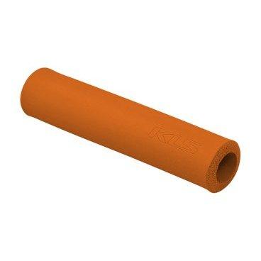 Грипсы KELLYS KLS SILICA, 130 мм, силикон, оранжевыйРучки и Рога<br>Мягкие велосипедные грипсы<br><br>Особенности<br><br>    эфективно поглощают вибрацию;<br>    легко встановлюются.<br><br>Характеристика:<br><br>    материал- силикон<br>    в комплекте пробки-заглушки;<br>    длина - 130 мм.<br>    Цвет: оранжевый<br>