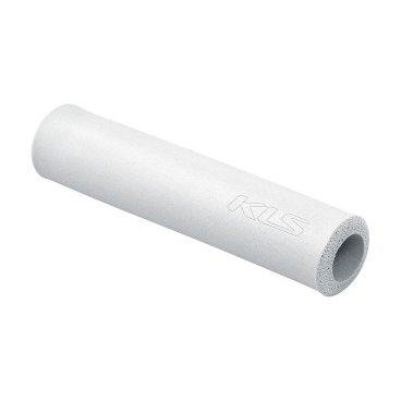 Грипсы KELLYS KLS SILICA, 130 мм, силикон, белыйРучки и Рога<br>Мягкие велосипедные грипсы<br><br>Особенности<br><br>    эфективно поглощают вибрацию;<br>    легко встановлюются.<br><br>Характеристика:<br><br>    материал- силикон<br>    в комплекте пробки-заглушки;<br>    длина - 130 мм.<br>    Цвет: белый<br>