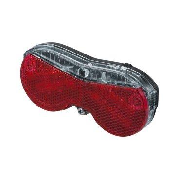 Фонарь задний KELLYS RACKOON, на багажник, 0,9 Lm х 180 час, черный, батарейки в комплектеФары и фонари для велосипеда<br>Фонарь задний KELLYS RACKOON, на багажник, 0,9 Lm х 180 час, черный, батарейки в комплекте<br>