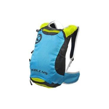 Рюкзак велосипедный KELLYS LIMIT, 6 л, лёгкий, для марафона, синий/зелёныйВелорюкзаки<br>Рюкзак LIMIT (6л) Рюкзак изготовлен из материала полиэстер, объемом 6л. Состоит из 2-х отделений. Отделение для гидропака может содержать объем до 2-х литров. Есть сетка для крепления шлема. Чехол от дождя защищает рюкзак от влаги и грязи. По краям рюкзака карманы из сетки для мелочей. Air Comfort System - вентилируемая спинка эргономичной формы. Лямки вентилируемых поясной и нагрудный ремни для большего комфорта. Светоотражающие вставки для безопасности.<br>