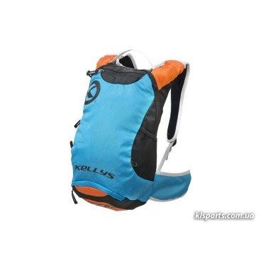 Рюкзак велосипедный KELLYS LIMIT, 6 л, лёгкий, для марафона, синий/оранжевыйВелорюкзаки<br>Рюкзак LIMIT (6л) Рюкзак изготовлен из материала полиэстер, объемом 6л. Состоит из 2-х отделений. Отделение для гидропака может содержать объем до 2-х литров. Есть сетка для крепления шлема. Чехол от дождя защищает рюкзак от влаги и грязи. По краям рюкзака карманы из сетки для мелочей. Air Comfort System - вентилируемая спинка эргономичной формы. Лямки вентилируемых поясной и нагрудный ремни для большего комфорта. Светоотражающие вставки для безопасности.<br>