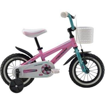 Детский велосипед Merida Princess J12 2016Детские<br>Велосипед, предназначенный для девочек в возрасте от полутора до трех лет, без переключения передач. Технические особенности: алюминиевая рама Boy Alloy, жесткая вилка Rigid fork Steel, одинарные обода Alloy Black, передний тормоз - ручной, задний - ножной, короткие крылья, защита цепи, боковые колеса. Подходит для обучения и легких прогулок. Диаметр колес - 12 дюймов.<br><br>Основные характеристики<br><br>Производитель Merida<br>Модельный год 2016<br>Материал рамы Алюминий<br>Диаметр колес 12 дюймов<br>Количество скоростей 1 скорость<br>Возраст От 1 до 3 лет<br>Тип тормозов Ободные<br>Страна Германия<br>Количество колес 4 колеса<br>Наличие ручки без ручки<br>Рама и амортизаторы<br><br>Вилка Жесткая<br>Рама MATTS J12<br>Привод<br><br>защита звёзд/цепи FULL-TYPE<br>Каретка attached<br>Кассета 16T<br>Педали Kid PP<br>Система STEEL 28T<br>Цепь C-410<br>Колеса<br><br>Втулки Steel NT<br>Обода Alloy Black<br>Покрышки Kid 12 X 1.75 ( WHITE LINE )<br>Спицы Steel BK<br>Компоненты<br><br>Вынос руля one piece<br>Звонок YWS-Alloy<br>Подножка Боковые колеса<br>Подседельный штырь attached<br>Рулевая колонка General<br>Руль one piece<br>Седло PRINCESS kid 12<br>Тормоза Side Pull ( STEEL ) / Ножной (Coaster in R.Hub.)<br>Тормозные ручки Kid Lever ( BL-01P )<br>