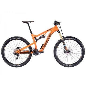 Двухподвесный велосипед Lapierre Zesty AM 427 2016Двухподвесные<br>Самая популярная модель для эндуро и ол-маунтин от Lapierre, рассчитанная на использование 27.5-дюймовых колёс. Теперь велосипед ещё лучше ведёт себя на спусках, при том, что соотношение надёжности и веса осталось на прежнем высочайшем уровне. Рама данной модели изготовлена из фирменного алюминиевого сплава Supreme 6 и разработана специально для установки колёс стандарта 650B; ход подвески составляет 150мм. Благодаря грамотному подбору компонентов велосипед мало весит и отлично управляется, вне зависимости от того, где и как вы катаетесь.<br><br><br><br>Амортизатор задний ROCK SHOX MONARCH RT HV 190х51mm<br>Амортизатор передний FOX FLOAT 34 PERFORMANCE 3POS 27.5 150mm 15QR<br>Амортизация задняя ЕСТЬ<br>Амортизация передняя ЕСТЬ<br><br><br>Втулки RACE FACE 15x100/12x142mm<br>Вынос LAPIERRRE Nico Vouilloz<br>Год 2016<br>Каретка SHIMANO SMBB7141A PRESSFIT<br>Кассета SHIMANO CS-HG5010136 11x36 10-Speed<br>Количество передач 20 SPEED<br>Назначение ALL MOUNTAIN<br>Новинка Нет<br>Обода RACE FACE AEFFECT<br>Переключатель задний SHIMANO XT RD-M786 10 SPEED<br>Переключатель передний SHIMANO DEORE<br>Переключение система SHIMANO<br>Подседельный штырь KIND SHOCK CRUXI ?: 31.6mm L: 420mm Travel: 100mm<br>Покрышки SCHWALBE TOUGH TOM K-GUARD 27.5x2.25<br>Пол Мужской<br>Производитель LAPIERRE<br>Размер колеса 27,5<br>Размер рамы 46см<br>Рулевая колонка FSA Orbit 1.5E ZS NO.57-1 with 8mm Top cap<br>Руль LAPIERRE Nico Vouilloz Signature<br>Седло SDG DUSTER LP Custom<br>Тормоза SHIMANO DEORE BR-M615 HYDRAULIC<br>Тормоза тип DISC<br>Цвет оранжевый<br>Шатуны RACE FACE AEFFECT<br>Шифтер SHIMANO DEORE 2x10 SPEED ISpec<br>