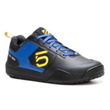 Велотуфли Five Ten Impact VXI, сине-желтый (2017)Велообувь<br>В разработке этих кроссовок участвовали Сэм Хилл и Брук Макдоналд, которые, как известно, ездят даунхилл на обычных педалях-платформах. Разумеется, самое важное для них в обуви – это подошва. Именно поэтому она изготовлена из патентованного материала STEALTH MI6, который не только обеспечивает лучшее по сравнению со стандартным компаундом STEALTH сцепление, но и эффективнее абсорбирует удары, что, согласитесь, немаловажно, когда вы едете по каменистым участкам трассы. Кроме того, новые кроссовки стали ещё легче, а верх теперь выполнен из быстросохнущей синтетической кожи.<br><br><br><br>ОСОБЕННОСТИ<br><br><br><br>Материал верха: синтетическая кожа<br><br>Материал подошвы: STEALTH MI6<br><br>Цвет: чёрный/синий/жёлтый<br><br>Размер: 10.0 (US)<br>