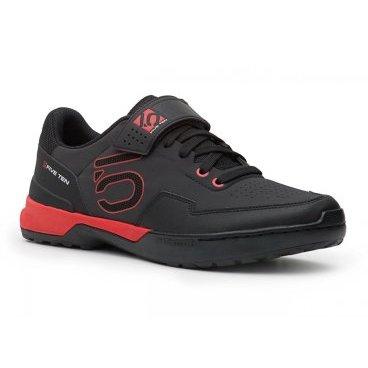 Велотуфли Five Ten Kestrel Lace SPD, черно-красный (2017)Велообувь<br>Новые контактные туфли для эндуро и катания в стиле ол-маунтин – результат эволюции популярной модели Kestrel. Если вы ищете контактную обувь с классической шнуровкой, позволяющую эффективно передавать усилие на педали, то Kestrel Lace – именно то, что вам нужно. Подошва данной модели выполнена из самой жёсткой резины от Five Ten под названием STEALTH C4, а специальная вставка из пеноматериала EVA обеспечивает отличную амортизацию ударов.<br><br><br><br><br><br>ОСОБЕННОСТИ<br><br><br><br>Материал верха: искусственная кожа<br><br><br>Материал подошвы: STEALTH C4<br><br><br>Задник и язычок перфорированы для лучшей вентиляции<br><br><br>Вставка из пеноматериала EVA обеспечивает отличную амортизацию ударов<br><br><br>Дополнительная застёжка на липучке<br>