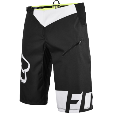 Велошорты Fox Demo DH Short Чёрные/белые, Размер: W32 (12970-018-32)Велошорты<br>Стильные и удобные шорты, выполненные из плотной и устойчивой к истиранию синтетической ткани. Благодаря особому покрою под названием RAP (Rider Attack Position), они идеально подойдут любителям даунхила и эндуро. Вставки из эластичного сетчатого материала обеспечивают свободу движений и оптимальную вентиляцию.<br><br><br><br>ОСОБЕННОСТИ<br><br><br><br>Материал: полиэстер 600D<br><br>Особый покрой для оптимальной посадки на велосипеде<br><br>Вставки из эластичного сетчатого материала для большей свободы движений и оптимальной вентиляции<br><br>Подкладка из мягкой сетчатой ткани<br><br>Застёжка на молнии и регулируемой стропе<br><br>Оригинальная графика<br>