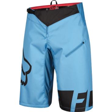 Велошорты Fox Demo DH Short, Размер: М (W32), голубой, 12970-189-32Велошорты<br>Стильные и удобные шорты, выполненные из плотной и устойчивой к истиранию синтетической ткани. Благодаря особому покрою под названием RAP (Rider Attack Position), они идеально подойдут любителям даунхила и эндуро. Вставки из эластичного сетчатого материала обеспечивают свободу движений и оптимальную вентиляцию.<br><br><br><br>ОСОБЕННОСТИ<br><br><br><br>Материал: полиэстер 600D<br><br>Особый покрой для оптимальной посадки на велосипеде<br><br>Вставки из эластичного сетчатого материала для большей свободы движений и оптимальной вентиляции<br><br>Подкладка из мягкой сетчатой ткани<br><br>Застёжка на молнии и регулируемой стропе<br><br>Оригинальная графика<br>