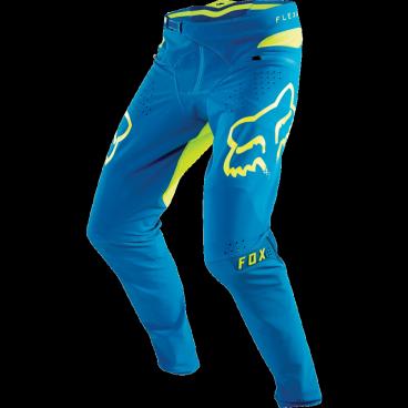 Велоштаны Fox Flexair Pant Teal, голубые, полиэстерВелоштаны<br>Абсолютно новые штаны для даунхила и эндуро – результат длительной совместной работы дизайнеров и райдеров команды Fox. На протяжении всего прошлого года Джош Брайсленд, Стив Смит и другие быстрейшие гонщики команды ездили в этих штанах, и они показали себя более чем достойно. Данная модель выполнена из эластичного текстиля, который тянется во всех четырёх направлениях и абсолютно не сковывает движений, а лазерная перфорация в критических местах обеспечивает дополнительную вентиляцию и максимальный комфорт, дабы ничто не отвлекало вас от достижения высочайших результатов.<br><br>ОСОБЕННОСТИ<br><br>Материал: полиэстер TRUMOTION<br><br>Лазерная перфорация в критических местах для лучшей вентиляции<br><br>Удобная регулируемая застёжка<br><br>Карманы на молнии<br>