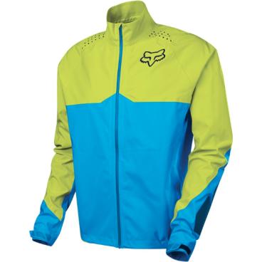 Велокуртка Fox Downpour LT Jacket, желто-голубаяВелокуртка<br>Велокуртка Fox Downpour LT имеет прочную, легкую, водонепроницаемую и ветрозащитную ткань в 2,5 слоя, проклеенные швы и хорошо пропускает воздух. Это идеальный выбор для плохих погодных условий. <br><br>Особенности:<br>Прочная тянущаяся ткань 2,5 мм слоя<br>Водонепроницаемая/ветрозащитная мембрана TRUSEAL <br>Проклеенные швы<br>Износостойкая вставка из материала Cordura® на рукавах <br>Водонепроницаемые карманы на молнии<br>Светоотражающие детали в ключевых областях для видимости в тёмное время суток<br>Регулируемые манжеты с силиконовой застежкой<br>Регулируемый низ<br>DWR пропитка верхнего слоя<br>Материал: 100% полиэстер<br><br>Мембрана TRUSEAL: <br>Водонепроницаемая ткань предотвращает попадание воды на одежду, позволяя ткани дышать и отходить поту.<br>100% проклеенные швы<br>DWR пропитка верхнего слоя<br>Минимальная мембрана 10к/10к<br>