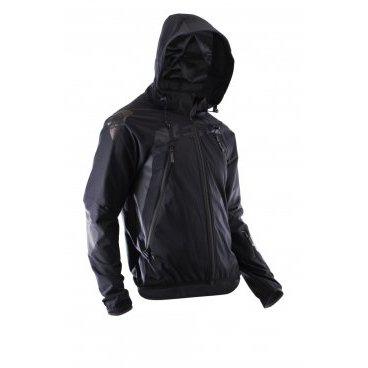 Велокуртка Leatt DBX 4.0 All Mountain Jacket, чернаяВелокуртка<br>DBX 4.0 – это непромокаемая куртка, созданная специально для велосипедистов. Модель выполнена из мягкого и эластичного водонепроницаемого текстиля, который не только не пропускает влагу, но и отлично дышит. Основные особенности этой куртки – дополнительные потайные швы для большей надёжности и высококачественные молнии от YKK. Кроме того, куртка отлично совместима с защитой шеи и подходит для ношения поверх тонкого панциря, а регулируемый капюшон можно надеть на любой шлем. И, наконец, отметим накладки из специальной прозрачной плёнки на плечах и локтях, повышающие устойчивость ткани к механическим повреждениям.<br><br><br>ОСОБЕННОСТИ<br><br><br>Мягкий и эластичный водонепроницаемый материал<br><br>Дополнительные потайные швы для большей надёжности<br><br>Высококачественные молнии от YKK<br><br>Подходит как для ношения поверх защиты, так и без неё<br><br>Регулируемый капюшон, который можно надеть поверх любого шлема<br><br>Накладки из специальной защитной плёнки на локтях и плечах<br><br>Специальные прорези на молниях для дополнительной вентиляции <br><br>Лоскут из микрофибры для протирки очков<br><br>Силиконовый принт в задней части куртки не даёт ей задираться во время езды<br>
