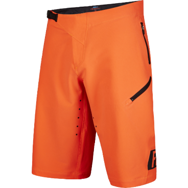 Велошорты Fox Demo Freeride Short Flow Оранжевый, Размер: W32 (16618-824-32)Велошорты<br>Спортивные шорты от Fox Racing. Устойчивая к истиранию ткань, перфорированная лазером для улучшения вентиляции. Нижние манжеты надёжно прикрывают ноги и не мешают педалированию. Регулируемая передняя застёжка и боковые стяжки для идеальной подгонки. Карманы на молнии, выход для наушников. Свободный крой, гоночная расцветка.<br>