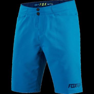 Велошорты Fox Ranger Short, Размер: М (W32), синий, 18453-176-32Велошорты<br>Самые удобные и популярные шорты от Fox теперь стали ещё лучше. Благодаря новому эргономичному крою они не сползают с поясницы во время езды в гору и абсолютно не сковывают движений при активном педалировании. Модель выполнена из эластичной и устойчивой к истиранию синтетической ткани; пристежная подкладка со вставками из пеноматериала в критических местах хорошо дышит и обеспечит вам дополнительный комфорт в долгих поездках.<br><br><br><br>ОСОБЕННОСТИ<br><br><br><br>Материал: полиэстер<br><br>Пристежная подкладка со вставками из мягкого пеноматериала в критических местах<br><br>Регулируемый потайной пояс<br>