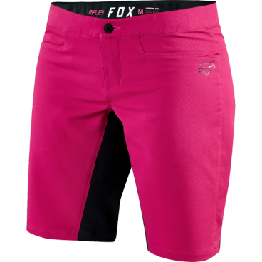Велошорты женские Fox Ripley  Short Розовые, Размер: M (18486-198-M)Велошорты<br>Шорты Fox Ripley – вероятно, лучшая женская модель на рынке по соотношению цены и функциональности. По сути, эти шорты – модификация популярной модели под названием Ranger. Так, здесь мы видим всё тот же верх из эластичной синтетической ткани и пристежную подкладку со вставками из мягкого пеноматериала. <br><br><br><br>ОСОБЕННОСТИ<br><br><br><br>Материал: 100% - полиэстер<br><br>Пристежная подкладка из мягкой сетчатой ткани<br><br>Регулируемый потайной пояс<br><br>Карман на молнии<br><br><br><br><br>Ширина пояса: 40 см.<br>Длина по внешнему шву: 44 см.<br>Длина по внутреннему шву: 24 см.<br>Ширина штанины внизу: 25 см.<br>