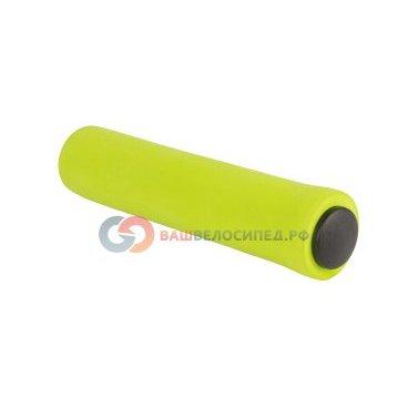 Ручки на руль велосипедные высокопрочный износостойкий медицин силикон CLL-SF1 125мм 6-550Ручки и Рога<br>NEW, медицинский силикон противоскользящие, стойкие к воздействию ультрафиолета, легко моются, сохраняют свои свойства при низких и высоких температурах, 125мм, зеленые<br>