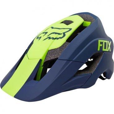 Велошлем Fox Metah Graphics Helmet Navy, сине-зеленыйВелошлемы<br>В 2006 году свет увидел шлем Fox Flux – один из первых шлемов, созданных специально для трейлрайдинга. И вот, десять лет спустя Fox выпускает полностью новую модель под названием Metah, которая обеспечивает ещё более эффективную защиту и лучшую вентиляцию, а также отличается сверхмалым весом. Пожалуй, это идеальный шлем для катания по любым трейлам.<br><br>ОСОБЕННОСТИ<br><br>Дополнительная защита затылочной части головы<br>10 больших отверстий для вентиляции<br>Фирменная система смягчения ударов Varizorb<br>Высококачественный мягкий внутренник очень удобен и быстро сохнет<br>Застёжка с удобным регулятором в виде небольшого диска<br>