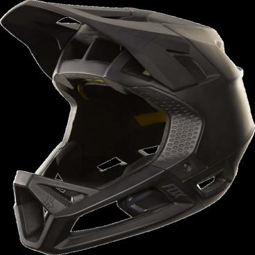 Велошлем Fox Proframe Helmet, матовый черныйВелошлемы<br>Proframe – самый лёгкий и вентилируемый шлем типа «фулл-фейс» от Fox,созданный для гонщиков эндуро и любителей агрессивного трейлрайдинга. Он вентилируется почти так же, как открытые шлемы, но при этом подходит даже для даунхила, что подтверждает соответствующий сертификат. Это действительно универсальный шлем, в котором вы сможете уверенно ездить где угодно. Proframe обеспечивает райдеру защитные свойства полноценного даунхильного шлема при сверхмалом весе – это стало возможно благодаря использованию патентованной интегрированной защиты челюсти. Благодаря 24 широким отверстиям для вентиляции этот шлем проветривается почти так же, как модели открытого типа – в нём вы не перегреетесь даже на самых трудных и затяжных подъёмах. А на спуске он придаст вам дополнительную уверенность, чтобы смело проезжать самые жёсткие и техничные участки.<br><br>ОСОБЕННОСТИ<br><br>Самый лёгкий фулл-фейс от Fox: Proframe весит всего 750 граммов (в размере M)<br>Отвечает требованиям таких стандартов безопасноти, как ASTM F1952, EN 1078, AS/NZ 2063 и CPSC<br>Интегрированная защита челюсти соединяется с корпусом шлема при помощи особой патентованной системы<br>Мягкий внутренник шлема хорошо дышит, эффективно отводит влагу от головы и обладает антимикробными свойствами<br>Благодаря 24 широким отверстиям для вентиляции Proframe – один из самых лёгких и вентилируемых шлемов, пригодных для даунхила<br>Фиксированный козырёк расположен таким образом, чтобы обеспечить максимальный приток воздуха к отверстиям для вентиляции<br>Застёжка Fidlock очень надёжна, при этом она моментально открывается и закрывается<br>Проверенная временем система MIPS (Multi-directional Impact Protection System)обеспечивает эффективную защиту при косых ударах и резких вращениях головы<br>Пеноматериал Varizorb дополнительно улучшает защитные свойства шлема<br>