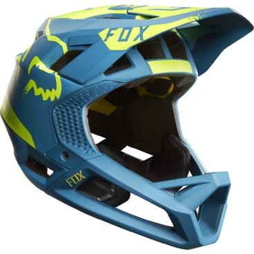 Велошлем Fox Proframe Moth Helmet TealВелошлемы<br>Proframe – самый лёгкий и вентилируемый шлем типа «фулл-фейс» от Fox,созданный для гонщиков эндуро и любителей агрессивного трейлрайдинга. Он вентилируется почти так же, как открытые шлемы, но при этом подходит даже для даунхила, что подтверждает соответствующий сертификат. Это действительно универсальный шлем, в котором вы сможете уверенно ездить где угодно. Proframe обеспечивает райдеру защитные свойства полноценного даунхильного шлема при сверхмалом весе – это стало возможно благодаря использованию патентованной интегрированной защиты челюсти. Благодаря 24 широким отверстиям для вентиляции этот шлем проветривается почти так же, как модели открытого типа – в нём вы не перегреетесь даже на самых трудных и затяжных подъёмах. А на спуске он придаст вам дополнительную уверенность, чтобы смело проезжать самые жёсткие и техничные участки.<br><br><br><br>ОСОБЕННОСТИ<br><br><br><br>Самый лёгкий фулл-фейс от Fox: Proframe весит всего 750 граммов (в размере M)<br><br>Отвечает требованиям таких стандартов безопасноти, как ASTM F1952, EN 1078, AS/NZ 2063 и CPSC<br><br>Интегрированная защита челюсти соединяется с корпусом шлема при помощи особой патентованной системы<br><br>Мягкий внутренник шлема хорошо дышит, эффективно отводит влагу от головы и обладает антимикробными свойствами<br><br>Благодаря 24 широким отверстиям для вентиляции Proframe – один из самых лёгких и вентилируемых шлемов, пригодных для даунхила<br><br>Фиксированный козырёк расположен таким образом, чтобы обеспечить максимальный приток воздуха к отверстиям для вентиляции<br><br>Застёжка Fidlock очень надёжна, при этом она моментально открывается и закрывается<br><br>Проверенная временем система MIPS (Multi-directional Impact Protection System)обеспечивает эффективную защиту при косых ударах и резких вращениях головы<br><br>Пеноматериал Varizorb дополнительно улучшает защитные свойства шлема<br>