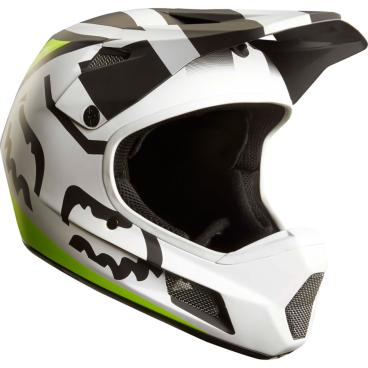 Велошлем Fox Rampage Comp Creo Helmet, бело-желтыйВелошлемы<br>Rampage Comp – отличный выбор для тех, кто ищет современный и технологичный фулл-фейс, но не готов отдавать баснословные суммы за карбоновые шлемы. Корпус данной модели выполнен из стекловолокна; одиннадцать больших отверстий для вентиляции обеспечивают оптимальную циркуляцию воздуха вокруг головы, а специальные усиления в области челюсти – большую жёсткость конструкции и, как следствие – более эффективную защиту. Кроме того, одна из ключевых особенностей данного шлема – наличие воздуховодных каналов внутри пенопластовой прослойки, что, разумеется, дополнительно улучшает вентиляцию. Корпус Rampage Comp выпускается в двух размерах, а пенопластовый внутренник – в трёх, таким образом, подобрать оптимальный для вас размер шлема не составит труда. И сидеть шлем будет не менее удобно, чем дорогие карбоновые модели.<br><br><br><br>ОСОБЕННОСТИ<br><br><br><br>Материал корпуса: стекловолокно<br><br>Дополнительные рёбра жёсткости в области челюсти<br><br>11 отверстий для вентиляции<br><br>Специальные воздуховодные каналы внутри пенопластовой прослойки<br>