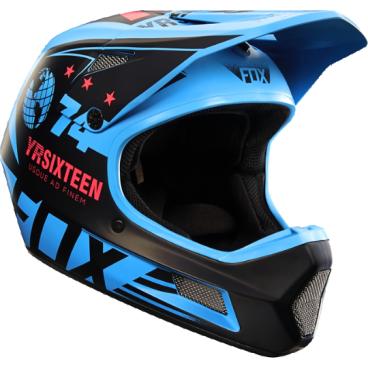 Велошлем Fox Rampage Comp Helmet, синийВелошлемы<br>Rampage Comp – отличный выбор для тех, кто ищет современный и технологичный фулл-фейс, но не готов отдавать пятизначные суммы за карбоновые шлемы. Корпус данной модели выполнен из стекловолокна; одиннадцать больших отверстий для вентиляции обеспечивают оптимальную циркуляцию воздуха вокруг головы, а специальные усиления в области челюсти – большую жёсткость конструкции и, как следствие – более эффективную защиту. Кроме того, одна из ключевых особенностей данного шлема – наличие воздуховодных каналов внутри пенопластовой прослойки, что, разумеется, дополнительно улучшает вентиляцию. Корпус Rampage Comp выпускается в двух размерах, а пенопластовый внутренник – в трёх, таким образом, подобрать оптимальный для вас размер шлема не составит труда. И сидеть шлем будет не менее удобно, чем дорогие карбоновые модели.<br><br>ОСОБЕННОСТИ<br><br>Корпус из стекловолокна<br>11 больших отверстий для вентиляции<br>Специальные воздуховодные каналы внутри пенопластовой прослойки<br>Челюстная часть усилена рёбрами жёсткости<br>Корпус выпускается в двух размерах, а пенопластовый внутренний – в трёх, что облегчает подбор размера шлема<br>Соответствует требованиям стандарта безопасности EN1078:2012<br>