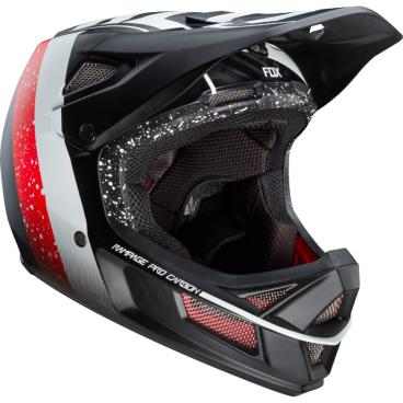 Велошлем Fox Rampage Pro Carbon Kroma Helmet, черно-белыйВелошлемы<br>Rampage Pro Carbon – без сомнения, один из лучших велосипедных шлемов для даунхила и фрирайда. Карбоновая внешняя часть выпускается в двух размерах, а внутренник из специального пенопласта – в трёх, так что вы легко подберёте шлем, который идеально подойдёт именно вам. Ключевая особенность данной модели – дополнительная система защиты под названием MIPS (Multi-directional Impact Protection System), основанная на той же идее, что и данная нам природой естественная защита мозга. . Внутренник шлема не просто крепится к жёсткой оболочке, а скользит относительно неё благодаря тонкой прослойке из специального материала, позволяя существенно снизить риск мозговых травм, случающихся при косых ударах по шлему и при резких вращениях головы. Семнадцать отверстий для вентиляции обеспечивают более чем оптимальную циркуляцию воздуха во время езды, а мягкая подкладка из материала Dri-Lex эффективно отводит влагу от кожи. Шлем прошёл множество испытаний на самых серьёзных соревнованиях и показал себя наилучшим образом.<br><br> <br><br>ОСОБЕННОСТИ<br><br> <br><br>Материал внешней части: углеволокно<br><br>MIPS – дополнительная система защиты, позволяющая существенно снизить риск мозговых травм, случающихся при косых ударах по шлему и при резких вращениях головы<br><br>17 отверстий для вентиляции<br><br>Мягкая быстросохнущая подкладка из материала Dri-Lex<br>
