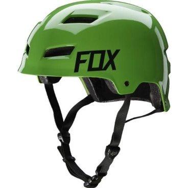 Велошлем Fox Transition Hard Shell Helmet, зеленыйВелошлемы<br>Велосипедный шлем FOX Transition Hard Shell - изготовлен из высокопрочного ABS пластика, дополненный внутренней отделкой из материала EPS для более традиционного стритового облика. Идеальный выбор для дерта, паркового катания и агрессивного трейлрайдинга.<br>Котелок FOX Transition имеет всё в полной мере не только для максимальной безопсности, но также и для повышенного комфорта при длительном катании. Так предусмотрены обширные вентилляционные отверстия, которые совместно обеспечивают хорошее течение воздуха и продуваемость. Внутренний накладки шлема очень мягкие на ощупь, имеют возможность отсоединения для стирки или замены. Уникальный шлем для тех, кто ценит свою безопасность без ущерба качественному комфорту!<br><br>- 11 вентиляционных отверстий обеспечивают непрерывную циркуляцию воздуха. <br>- Стрепы крепятся прямо к внешнему корпусу шлема через заклепки. <br> -Вело шлем FOX Transition Hard Shell соотвествует стандартам безопасности: CPSC, CE: EN 1078, AS/NZS 2063.<br>- Материалы: ABS пластик и EPS.<br>- Внутренние мягкие накладки из микрофибры снимаются для стирки или замены.<br>