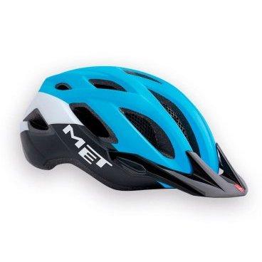 Велошлем MET Crossover, сине-черныйВелошлемы<br>Лёгкий универсальный шлем, который отлично подойдёт для использования в условиях города – этому способствует его низкий вес, оптимальная вентилируемость и встроенный светодиодный фонарь. Шлем можно использовать как с козырьком, так и без него.<br><br><br><br>ОСОБЕННОСТИ<br><br><br><br>Универсальная модель, оптимальная для использования в условиях города<br><br>Встроенный светодиодный фонарь<br><br>Сменные внутренние накладки из гипоаллергенного материала<br>