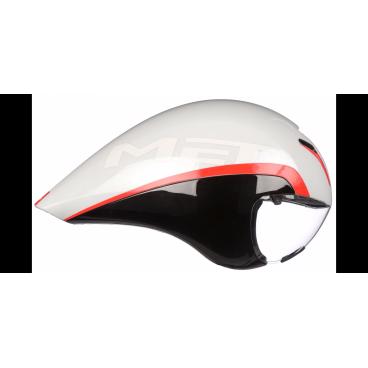 Велошлем MET Drone, бело-черно-красныйВелошлемы<br>Оригинальный аэродинамичный шлем для тех, кто стремится к настоящим рекордам. Уникальная каплевидная форма шлема вкупе с увеличенной шириной позволяет выводить встречные потоки воздуха над плечами гонщика – ведь именно выступающие при езде плечи создают дополнительное сопротивление воздушному потоку. Испытания в аэродинамической трубе показали, что на скорости в 50 км/ч шлем позволяет сэкономить до 10 ватт полезной мощности, что довольно-таки немало. При этом шлем отлично вентилируется благодаря особой системе воздуховодных каналов. А кроме того, в комплекте вы получаете уникальную линзу на магнитном креплении.<br><br><br><br>ОСОБЕННОСТИ<br><br><br><br>Оригинальный аэродинамичный шлем от Met<br><br>Позволяет сэкономить до 10 ватт мощности на скорости в 50 км/ч<br><br>Отлично вентилируется благодаря особой системе воздуховодных каналов<br><br>В комплекте – прозрачная линза на магнитном креплении<br><br>Фирменная система застёжек под названием Safe-T Advanced<br><br>Стропы застёжек выполнены из сверхлёгкого текстиля<br>